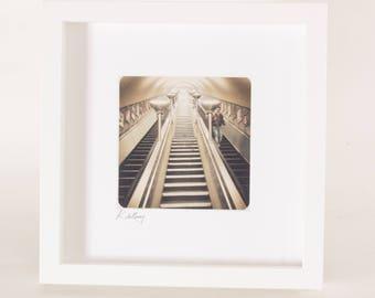 Lad Alone, Laboriously Lit on London Underground