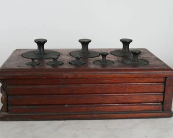 Vintage Weight Set, Counterbalance Weight Set, Scale Weights