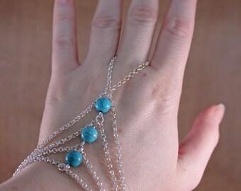 Howlite Hand Bracelet