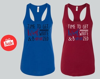 Time To Get Wed White & Boozed Matching Bridal Tank Tops. Bachelorette Tops. Custom Bridal Shirts.