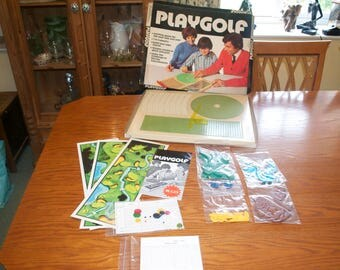 Play Golf 1970's Board Game COMPLETE by  Braidwood Developments Ltd Vintage Game