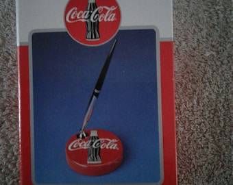 Coca-Cola Paper Weight with Pen Holder