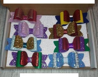 Princess hair clips set