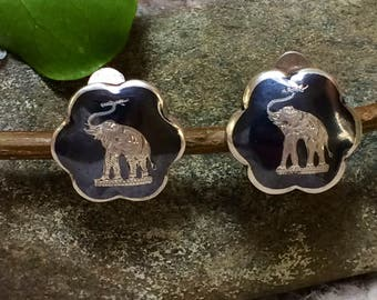 Vintage Clip Elephants - very old. Silver 925. Shoe clips? Earrings? Intricate details.