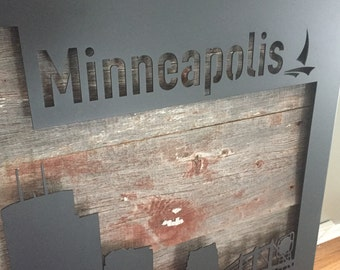 Minneapolis Skyline Wall Art - Medium (5 ft.)