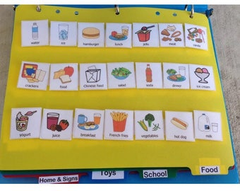 Visual Schedule communication book picture symbol book picture exchange symbol autism behavior aid visial boardmaker