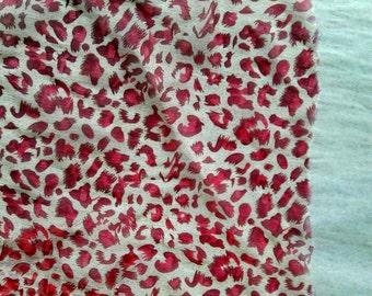 Leopard chiffon print fabric