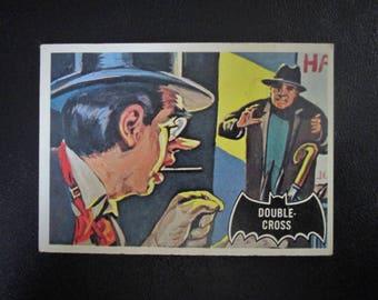 "Original 1966 Vintage TOPPS BATMAN Trading Card No. 22. ""Double-Cross"""