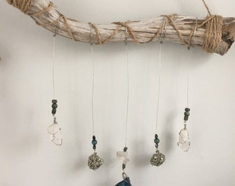Urban//Boho//Dream Catcher//Crystal Wall Hanging// Mobile Healing//Home Decor//Window