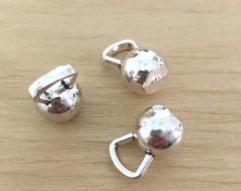 10pcs Kettlebell Charms  Dumbbell Charm Barbell Charm Exercise Charm Antique Silver Tone 3D Medium 12*18mm