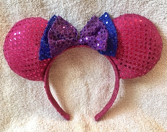 Sparkly Pink Mouse Ears