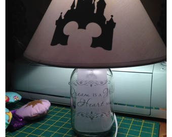 CUSTOM Mason Jar Lamp Disney Harry Potter