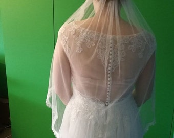 Chantilly  Lace Wedding Veil , Lace Bridal Veil, Ivory Wedding Veil, Bridal Veil