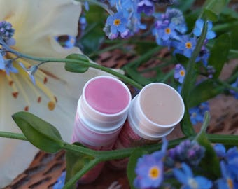 SPF Sun screen Personalized tinted lip balm chapstick party favor for her / for him