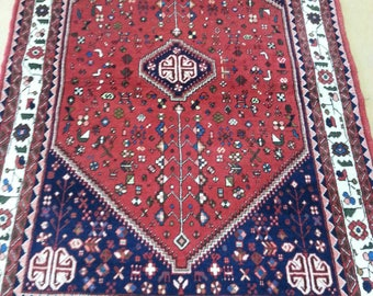 Abadeh Persian rug 4.9 × 3.4 ft 146 × 102 cm hand made, very fine