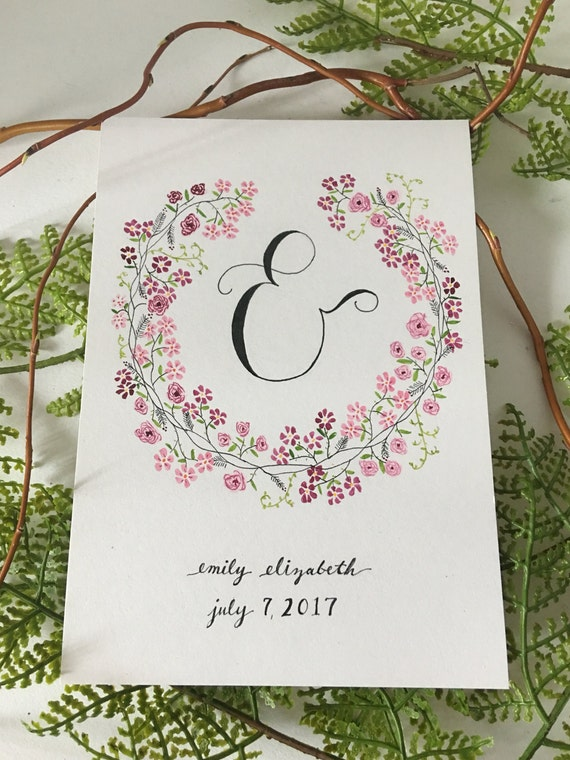 Handpainted floral baby gift