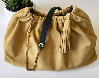 Soft leather pouch - large model