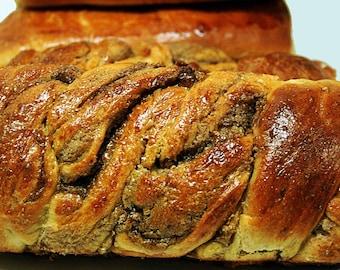 Cinnamon Walnut Swirled Brioche Loaf