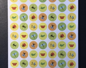 Sandylion Stickers Scrapbook, vintage MAXI  Sheet Insects, Bugs, Insect, Bug   (1 sheet)