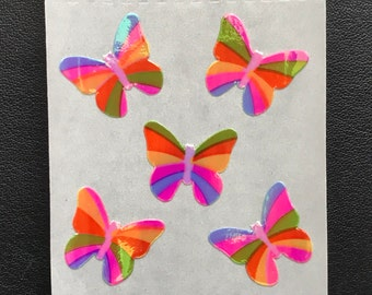 Sandylion Stickers, Scrapbooking, Pearl, Vintage  Rare Pearly Rainbow Butterfly, Butterflies     (1 mod)