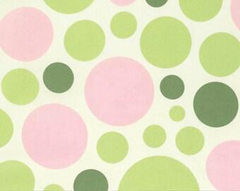 SALE 1 Yard Heather Bailey Nicey Jane - Dream Dot Celery Yardage by Free Spirit Fabrics - Sold by the Yard