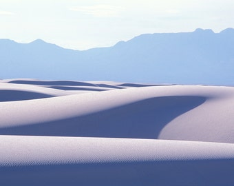 White Sands, Abstract Landscape of Sand Dunes, New Mexico, USA