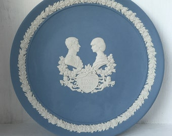 Wedgwood iconic blue side plate commemorating the birth of Prince William in 1982