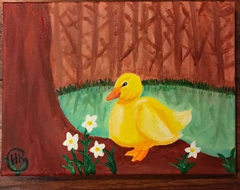 Duckling in Woods