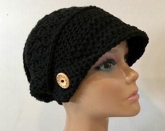 Slouchy newsboy cap/beanie/hat