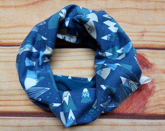 Infinity scarf reversible 6-36 months - mountains