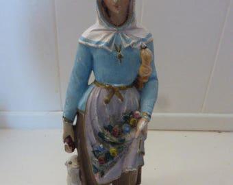 Chalkware Statue of St Agnes of Rome
