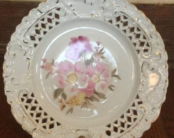 Decorative Gold Leafed Botanical plate