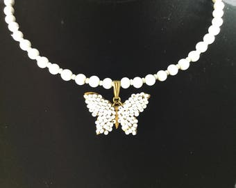 MIRIAM HASKELL BUTTERFLY  Choker
