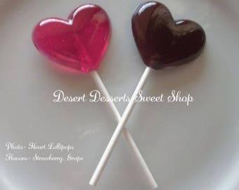 HEART LOLLIPOPS, Heart Cake/Cupcake Toppers, Heart Party Favors, Heart Stocking/Basket Stuffers