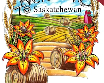Welcome to Saskatchewan Colouring Book