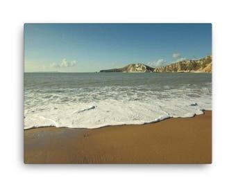 Coastal Beach Waves - Beach Canvas, Home Decor, Office Decor, Canvas Art