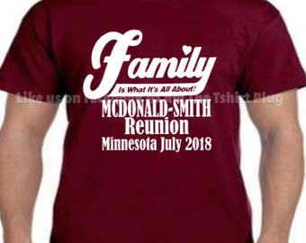 Special order *SHIPPING ONLY* McDonald-Smith family reunion shirts ONLY