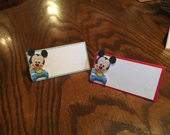 12 Baby Mickey Mouse Place/Tent Cards
