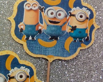 Minnions/Personaliz Cupcake Toppers