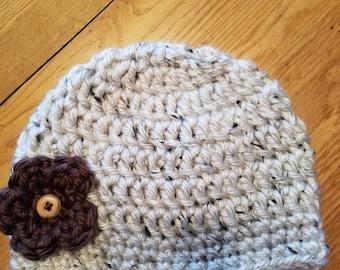 Chunky yarn winter hat, beanie