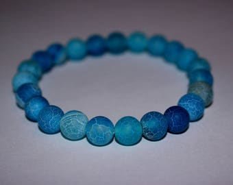 Blue Dragon Veins Agate Bracelet