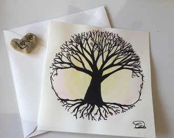 Tree of Life Watercolour Card // Unique Watercolour Card // Birthday Card // Anniversary Card // Valentine's Card // Wedding Card // Easter
