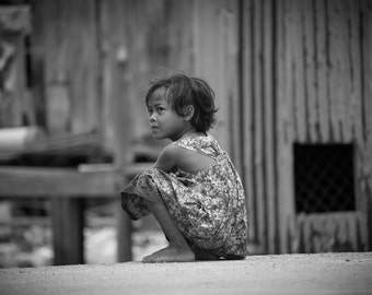 Hope, Koh Rong, Cambodia - Print Photograph/Black and White/People/Travel Photography/Wall Art/Home Decor