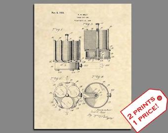 Patent Prints - Poker Chip Set Patent Art - Vintage Poker Wall Decor Casino Print - Vegas Wall Art Patent Poster - Poker Wall Art - 19