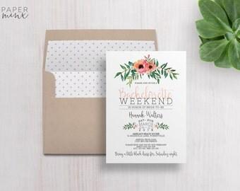Bachelorette weekend invitations – Etsy