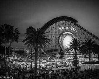 Disneyland Black and White Print