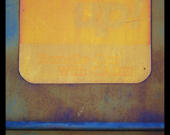 abstract photography, fine art photography, industrial art, abstract art, rust, orange, gold, blue, violet, rustic, urban art, art print