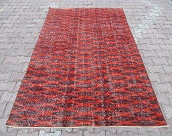 5X7.9 Ft Vintage Turkish art deco rug