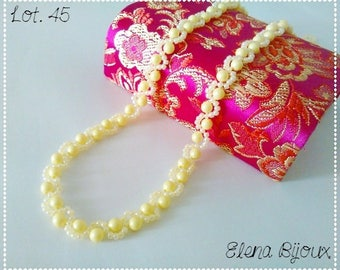 Swarovski Pearl Necklace yellow