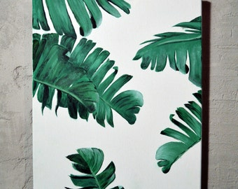 Palm Leaves Canvas Art